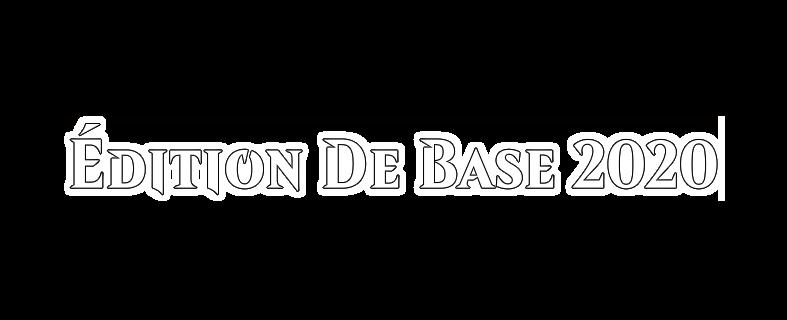 Édition de base2020