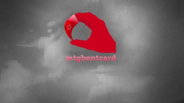 MTG Bent Card