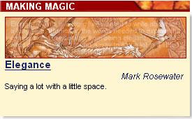 Mark's 'Elegance' column