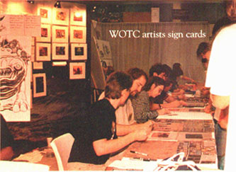WotC artists sign cards