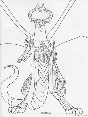 Download: Wizard Coloring Page | Coloring pages, Adult coloring pages,  Coloring books | 398x300