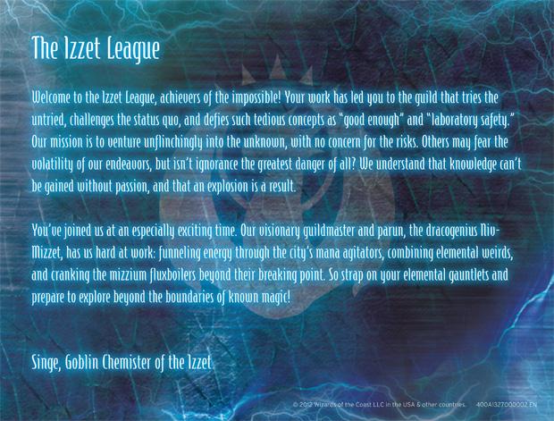 Izzet League Letter