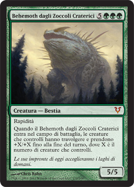 Behemoth dagli Zoccoli Craterici
