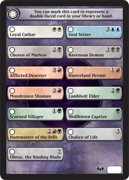 Dark Ascension Checklist Card