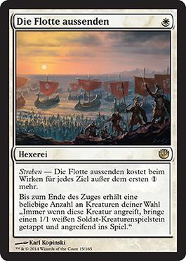 Die Flotte aussenden