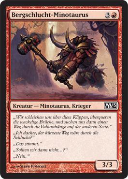 Bergschlucht-Minotaurus