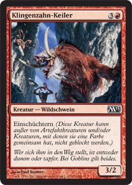 Klingenzahn-Keiler