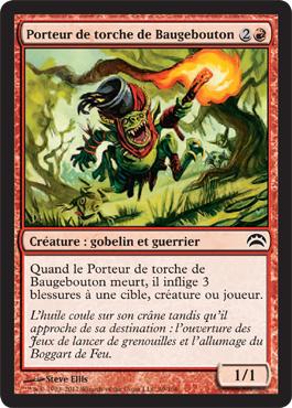 Porteur de torche de Baugebouton