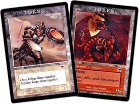 Soldier and Dragon tokens