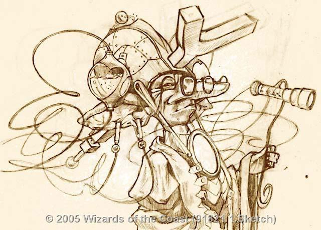 Goblin Flectomancer sketch by Matt Cavotta
