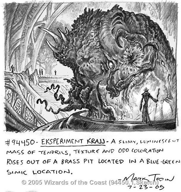 Experiment Kraj sketch by Mark Tedin