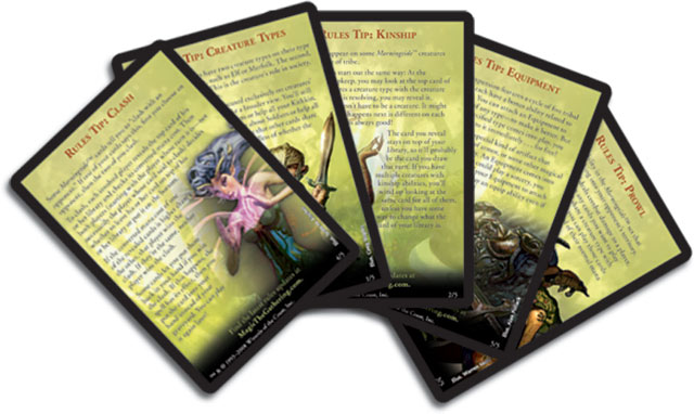 Morningtide Rules Tips Cards
