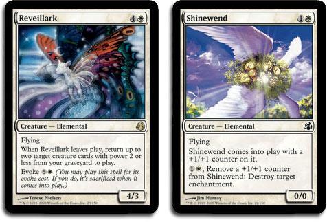Art-swapped Reveillark and Shinewend