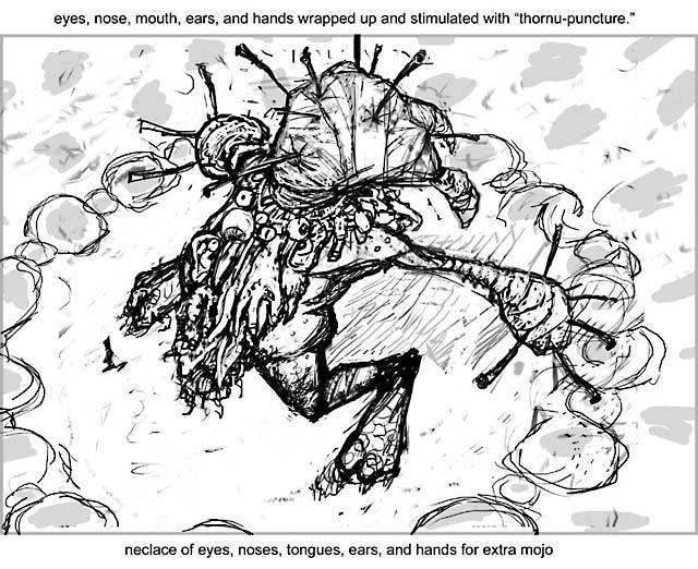 Sensation Gorger Initial Sketch