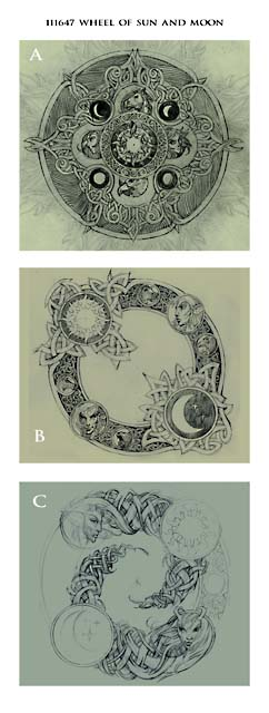 Wheel of Sun and Moon sketches