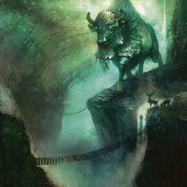 Lorwyn Elemental (green) token art by Brandon Kitkouski