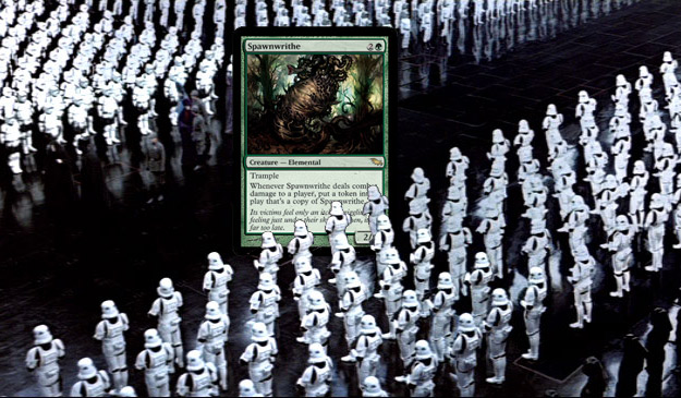 Spawnwrithe and a horde of followers