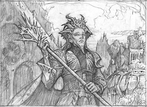 Selesnya Guildmage sketch by Mark Zug
