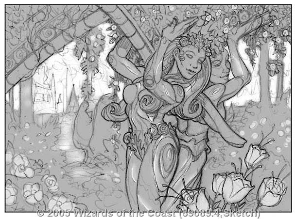 Carven Caryatid sketch by Jim Nelson