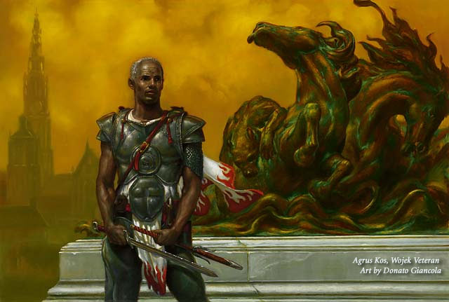 Agrus Kos, Wojek Veteran final art by Donato Giancola