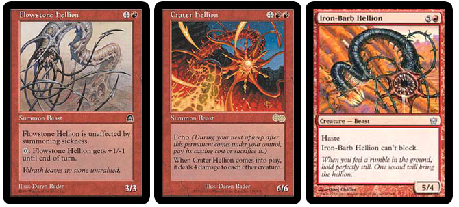Flowstone Hellion, Crater Hellion, Iron-Barb Hellion