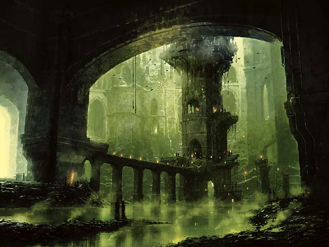 Ravnica Swamp art by Richard Wright