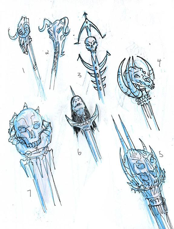 Rod of Ruin concept sketches 2