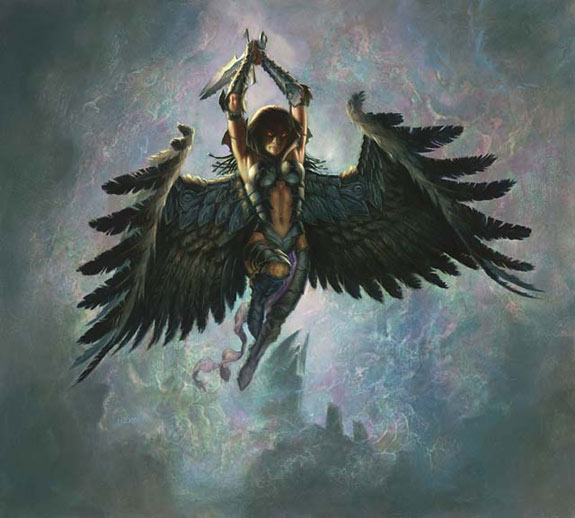Crypt Angel from Invasion, art by Todd Lockwood