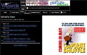 Wizards.com home page circa 1997