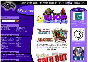 Wizards.com home page circa 1999