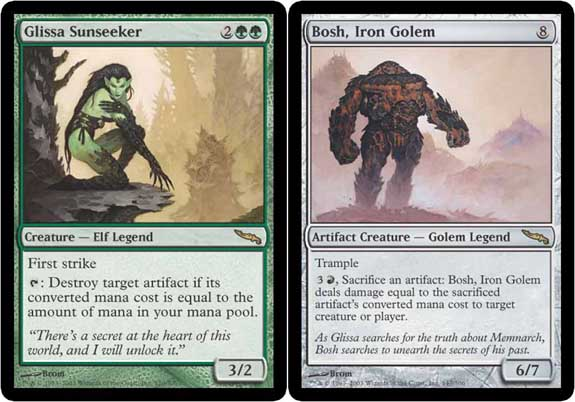 Glissa Sunseeker and Bosh, Iron Golem