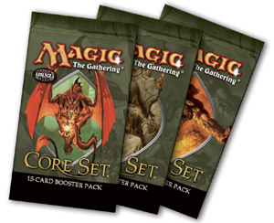 Three packs of Ninth Edition