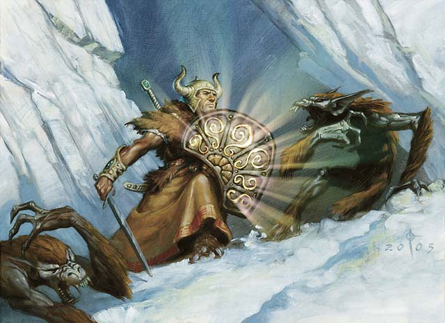 MTG 4x ORDER OF THE WHITE SHIELD Ice Age *Knight*