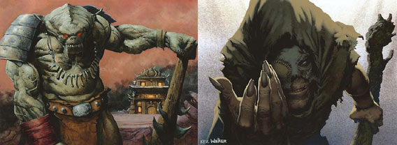 Art by Carl Critchlow (left) and Kev Walker (right)