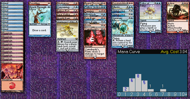 Blue/Red draft deck in Magic Online