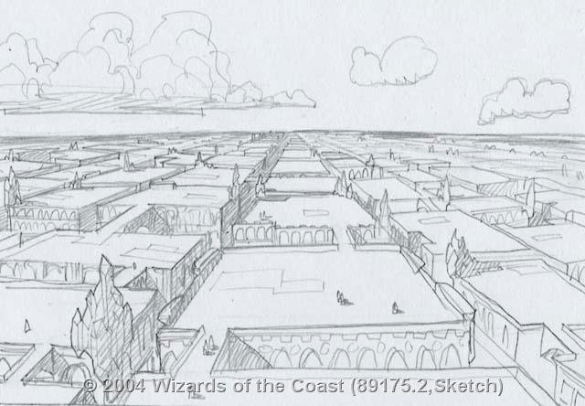 Ravnica plains concept sketch