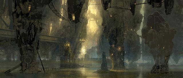 Ravnica swamp concept sketch