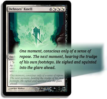 Flavor text of Debtors' Knell