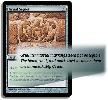 Flavor text of Gruul Signet