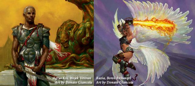 Agros Kos, Wojek Veteran and Razia, Boros Archangel