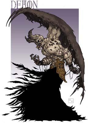 Demon concept sketch by Matthew Wilson