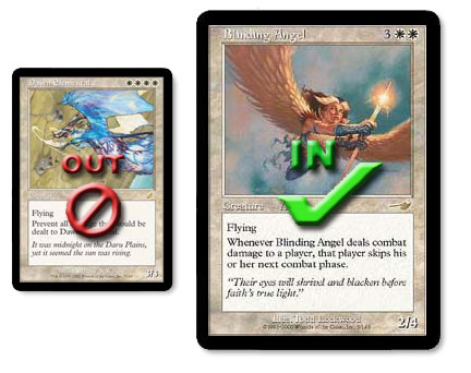 Blinding Angel beats Dawn Elemental