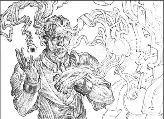 Zur's Weirding sketch by Mark Tedin