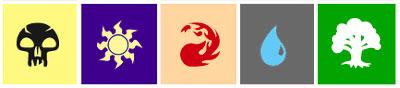 Mana symbols in high contrast