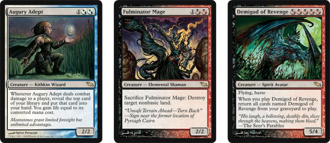 Augury Adept, Fulminator Mage, and Demigod of Revenge