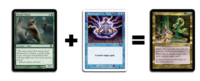 Grizzly Bears + Counterspell = Mystic Snake