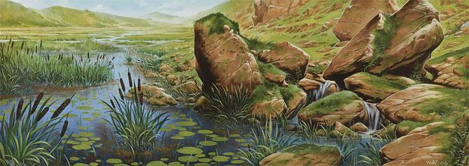 Marais et montagnes de Wayne Reynolds