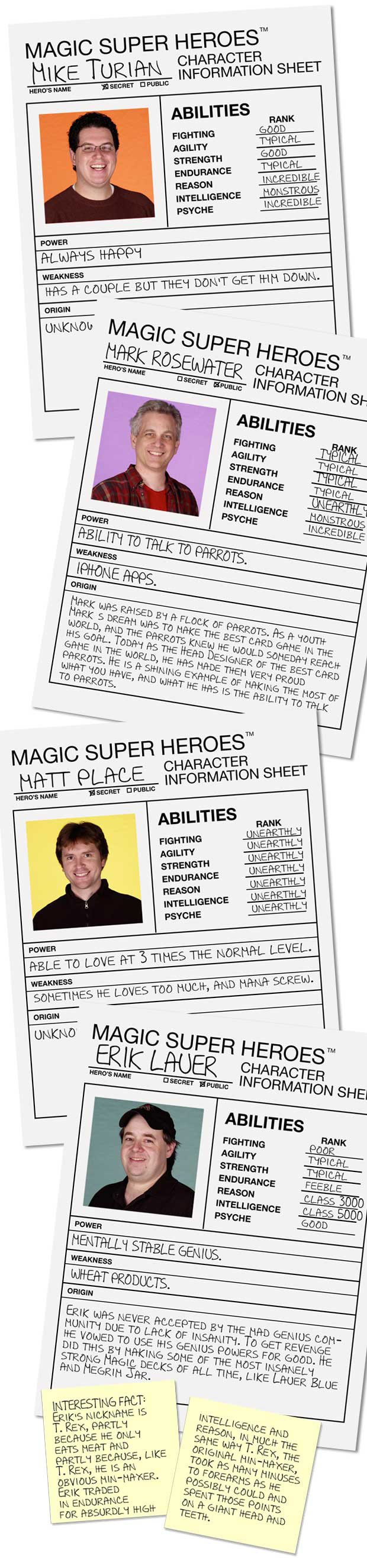Character sheets!