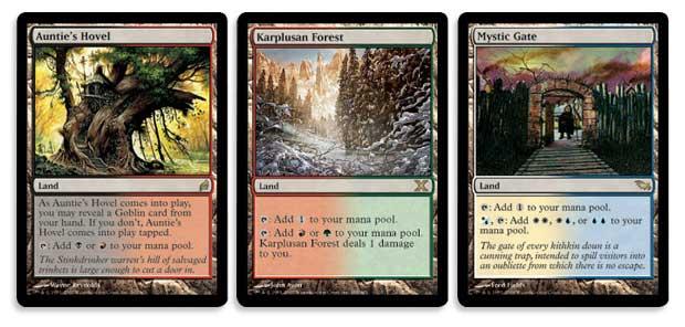 3 MTG Cards Lot Not Basic Dual Lands White//Black