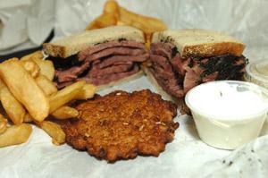 Pastrami sandwich from Katz's deli in New York